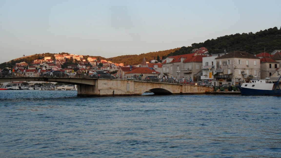Bridge from Trogir to Ciovo Island