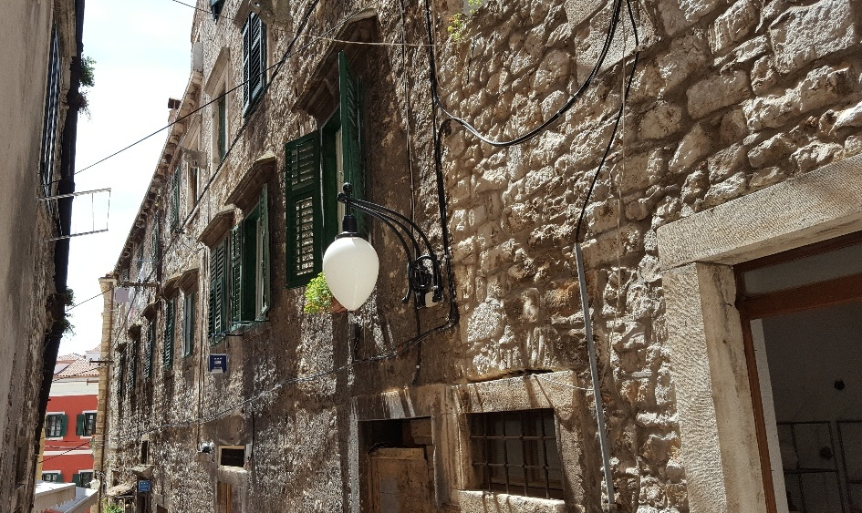 Narrow streets in Trogir