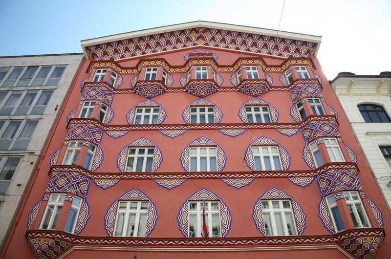 Ljubljana, typical Baroque facade