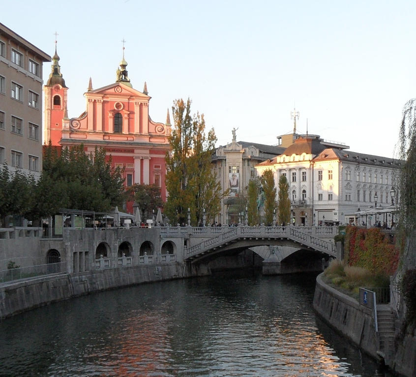 Ljubljana, Triple Bridge & Preseren Squar